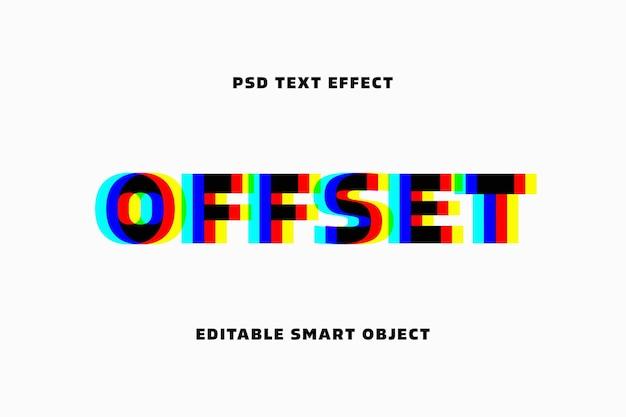 Vhs-glitch-texteffektvorlage