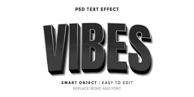 Vibes editierbarer texteffekt im 3d-stil