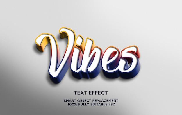 Vibes-texteffektvorlage