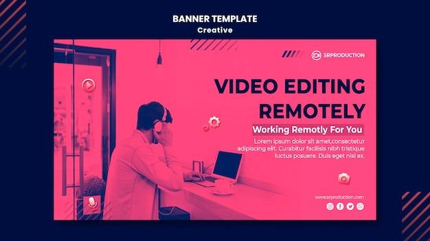 Videobearbeitungs-banner-vorlage