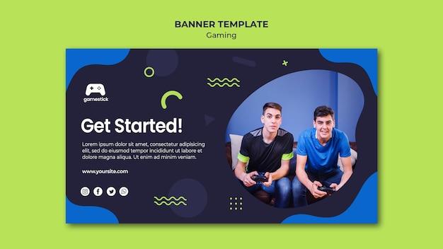 Videospiel-banner-vorlage