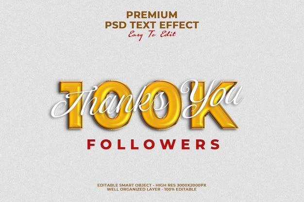 Vielen dank, dass sie 100.000 follower text style vorlage