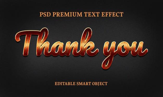 Vielen dank text effektporträt der schönen frau