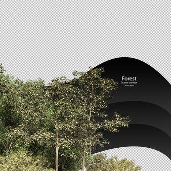 Vielfalt bäume beschneidungspfad bäume isoliert 3d-baum-rendering