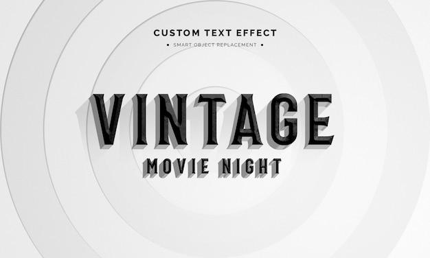 Vintage 3d textstil-effekt