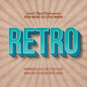 Vintage retro-texteffekt