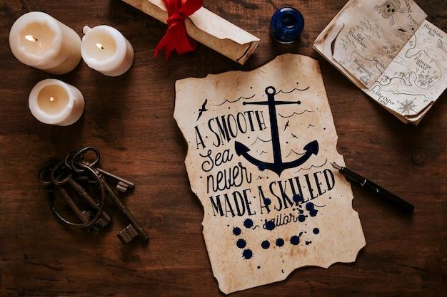 Vintage segeln konzept