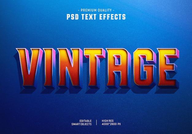 Vintage text style effekt