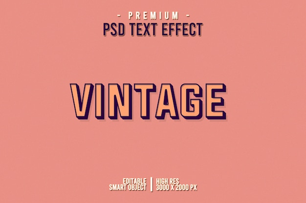 Vintage texteffekt
