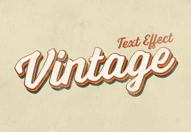 Vintage texteffektmodell