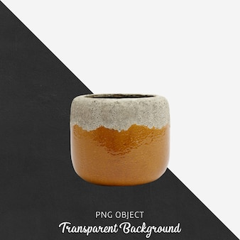 Vintage vase oder blumentopf auf transparent