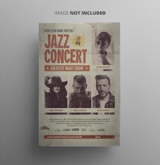 Vintager jazz-flyer