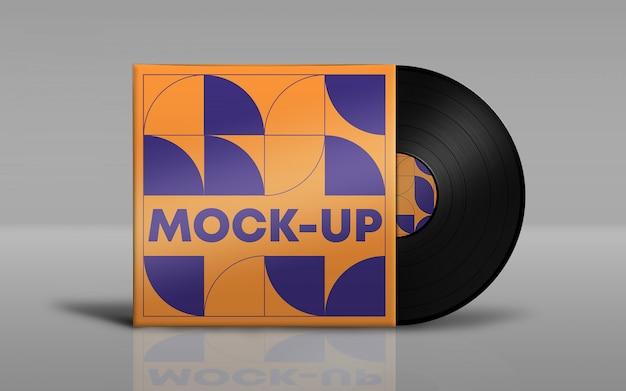 Vinyl disk packaging mockup psd