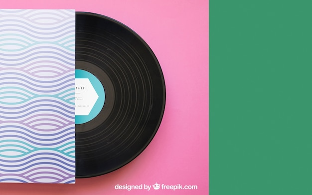 Vinyl-modell mit platz auf der rechten seite