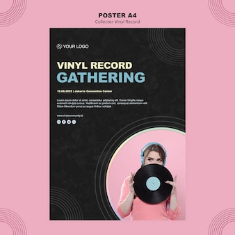Vinyl-plattenplakatschablone