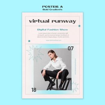 Virtuelle außer kontrolle geratene plakatvorlage
