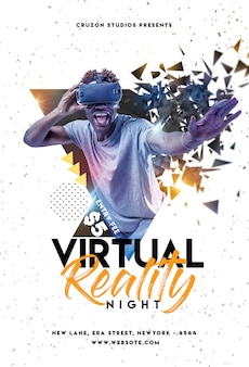 Virtueller party flyer