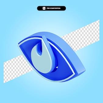 Vision 3d-render-darstellung isoliert