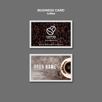 Visitenkarte des coffeeshops