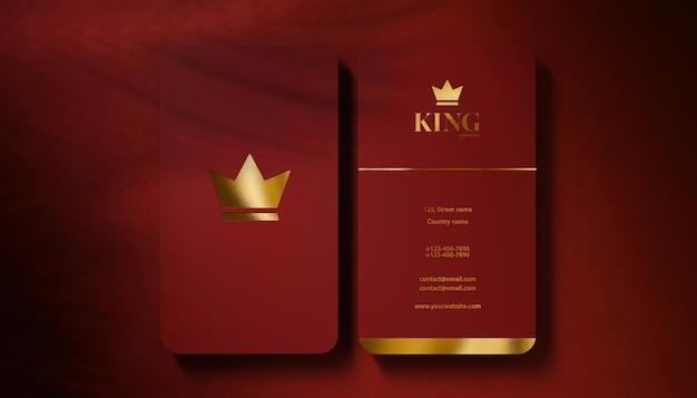 Visitenkarte des luxuslogo-modells
