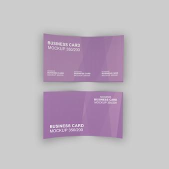 Visitenkarte doppelseitige vorlage mockup-präsentation