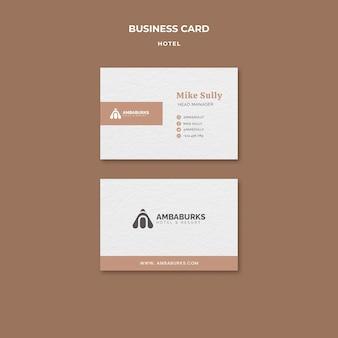 Visitenkarte für hotelvorlagendesign