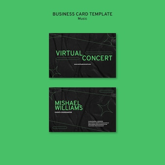 Visitenkarte für virtuelles konzert