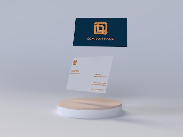 Visitenkarte glänzendes geprägtes textur fliegendes modell