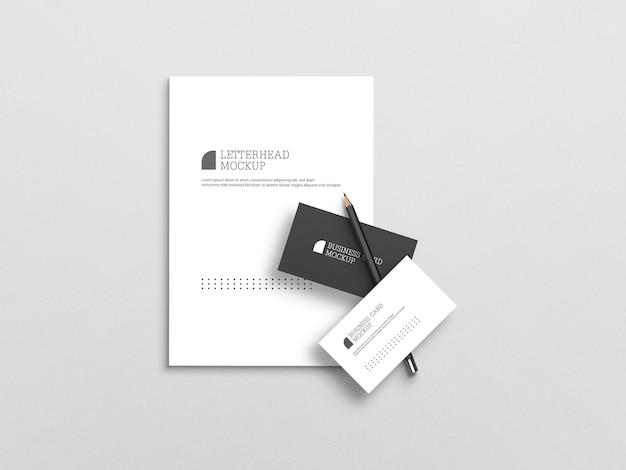 Visitenkarte mit briefkopfmodell