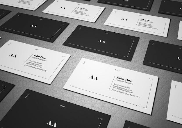 Visitenkarte mit dunklem und minimalem gitter
