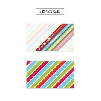 Visitenkarte mit farbigen streifen