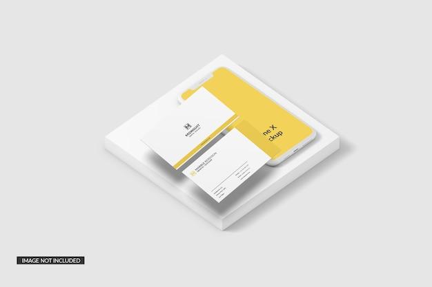 Visitenkarte mit telefonmodell