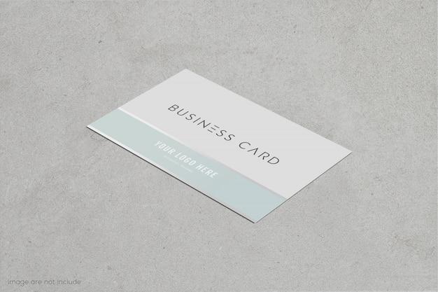 Visitenkarte und visitenkartenmodell