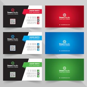 Visitenkarten in verschiedenen farben