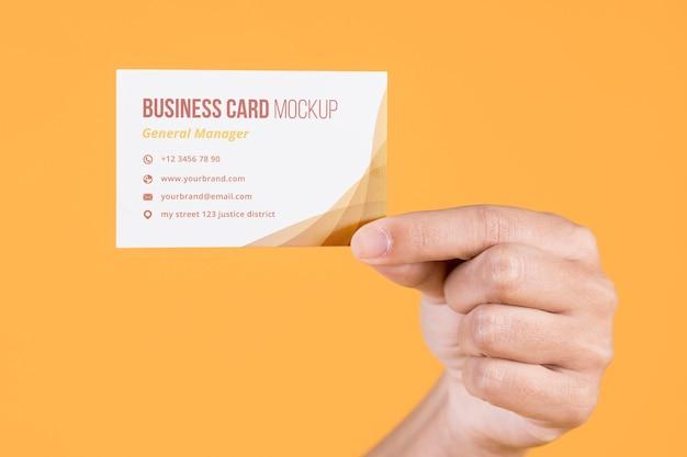 Visitenkarten-konzept-modell