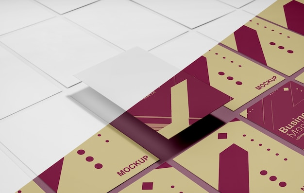 Visitenkarten-mock-up-arrangement Kostenlosen PSD