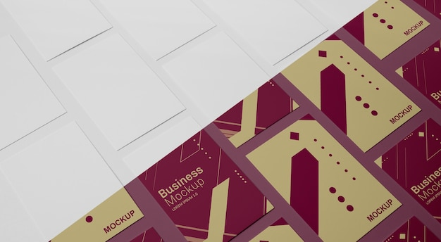 Visitenkarten-mock-up-sortiment Premium PSD