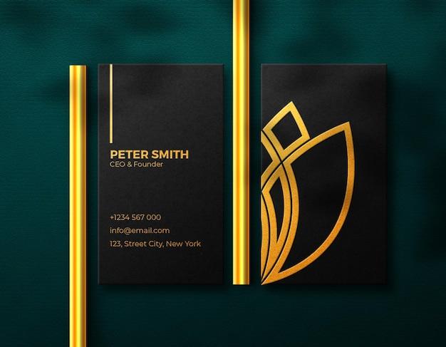 Visitenkarten-mockup luxury golden effekt