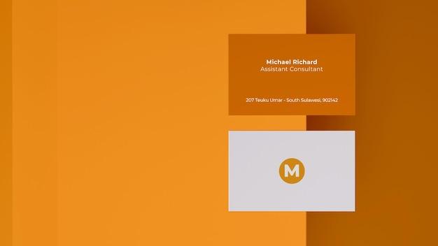 Visitenkarten-modell-3d-rendering