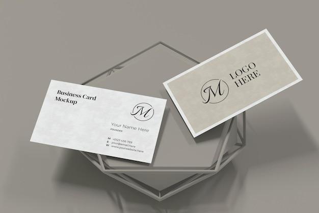 Visitenkarten-modellentwurf im 3d-rendering