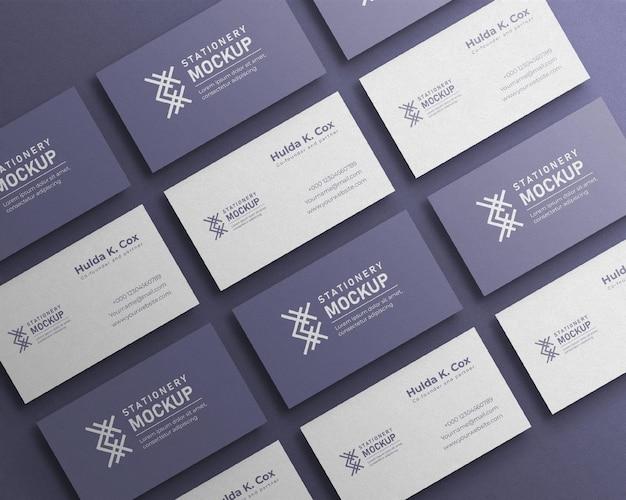 Visitenkarten-set-mockup und schattenüberlagerung