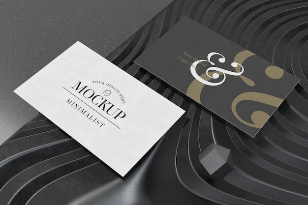 Visitenkartenmodell auf 3d-rendering