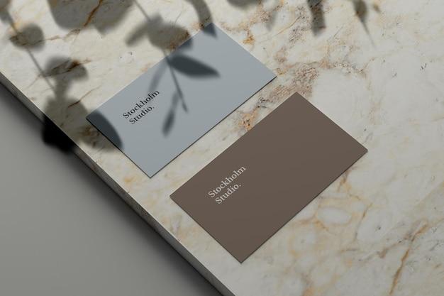 Visitenkartenmodell auf marmorstein