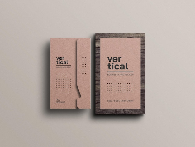 Visitenkartenmodell aus kraftpapier