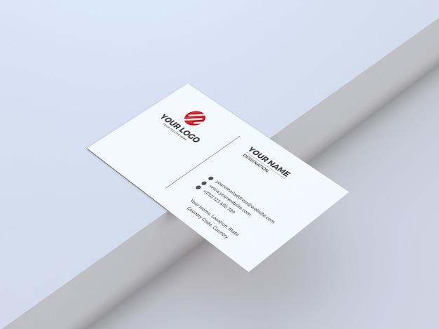 Visitenkartenmodell des sauberen und weißen hintergrunds