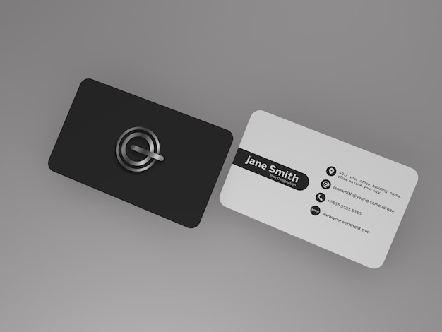Visitenkartenmodell kostenlose psd