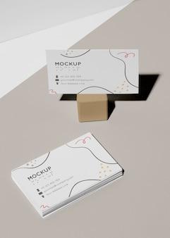 Visitenkartenmodell mit blindenschrift Premium PSD