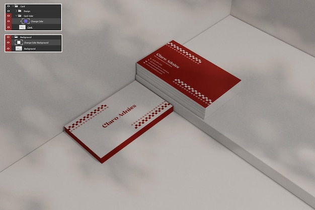 Visitenkartenmodell premium psdd
