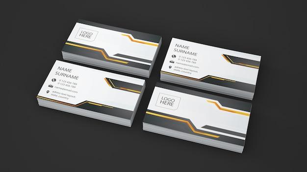 Visitenkartenschaukasten von vier stapeln
