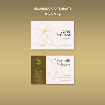 Visitenkartenvorlage für blumenladen